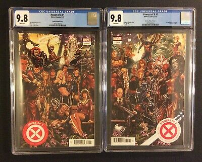 HOUSE OF X #1 POWERS OF X #1 Comics CGC 9.8 BROOKS CONNECTING VARIANTS Set of 2