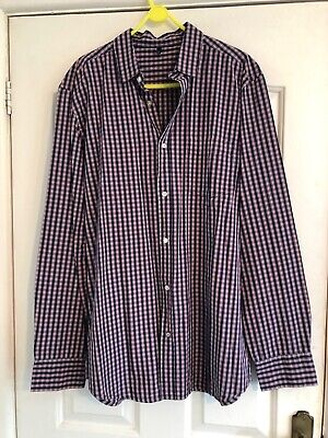 Benetton Long Sleeve shirt. Blue/white/red Check. Brand New Without Tags.