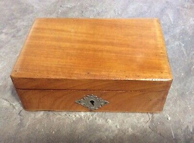 Small Jewellery Box Old Vintage Antique Wooden storage