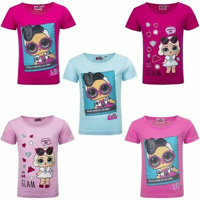 Girls Kids LOL Surprise Dolls Short Sleeve Cotton T Shirt Age 3-8 Years