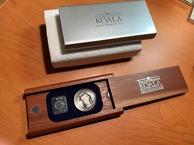 1988 Australia 1/2 oz Platinum Coin Koala First Proof Issue - in Jarrah Box