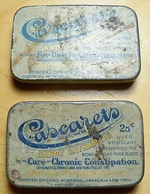 2 Cascarets Candy Cathartic Laxative For Contipation Tin - Sterling Products