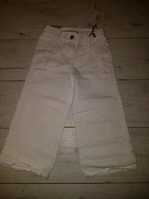 Girls White Culotte Jeans From Next Age 6 BNWT