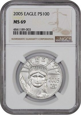 2005 Platinum Eagle NGC MS69 - Statue Liberty 1 oz