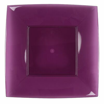[12 Pz ] Placemats Floors Nice Squares Plum Ps 12 Gold Plast Parties Candy