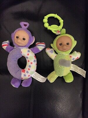 Teletubbies Clip On Toy Vibrates & Baby Rattle Crinkle Sounds Dipsey Tinkiwinki