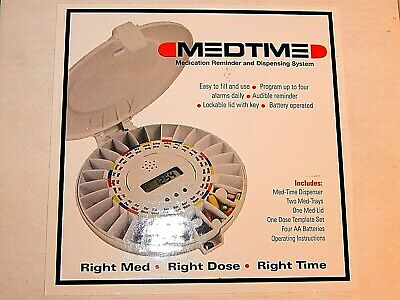 MEDTIME XL e-pill AUTOMATIC PILL REMINDER and Dispensing System+extra tray