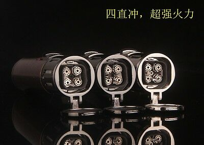 High-end four jet torch flame windproof cigar lighter  cool gift or collection