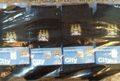 12 X Thermal Mens Offical Manchester City Football Club Socks Bnwt Great Gift