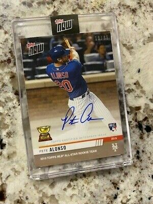 2019 Topps Now Mlb All-Star Rookie Team Auto Card /99 Mets Pete Alonso #Rc-2A