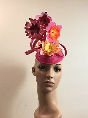 Handmade Pink Fascinator Flower Pot Brand New Millinery Hatinator One Off Design