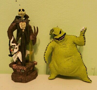 Disney Nightmare Before Christmas Oogie Boogie Jack Zero Light Up Ornament Set