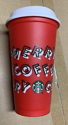 New Starbucks Holiday Christmas 2019 Red Reusable Cup w/ Lid