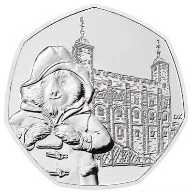Paddington Bear AT THE TOWER OF LONDON 50P Coin BRAND NEW BUNC Fifty Pence Piece