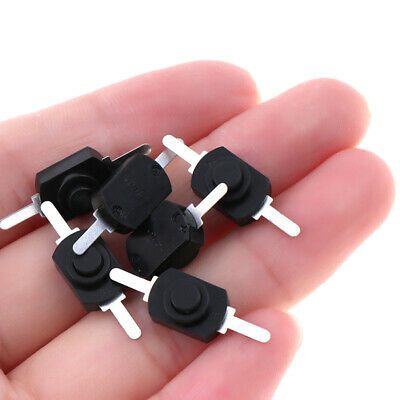 10PCS 12*8MM DC 30V 1A Black On Off Mini Push Button Switch for Electric Torc.UK