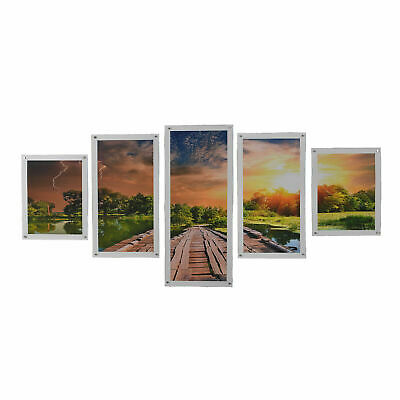 5 Panels Art Print Large Wall Printing Picture Canvas Home Decor Unframed Split