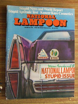 """National Lampoon"" Mar 1974.  Classic US Humour Magazine."