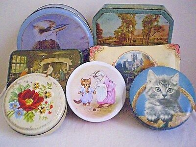 7 x AUSTRALIAN TINS BISCUIT & CONFECTIONERY ALLENS/GRIFFITHS/SWEETACRES/COLES.