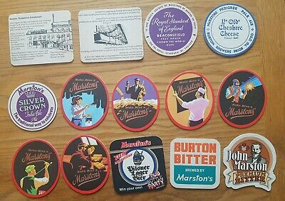 Forty-Six Mainly 1970's Marston, Burton upon Trent Beermats