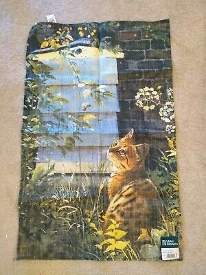 Ulster Weavers Linen Tea Towel - Secret Garden Cat
