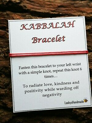 KABBALAH Red String Bracelet PROTECTION SUCCESS GOOD FORTUNE EVIL EYE LUCK