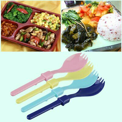 New Cute Camping Hiking Cookout Picnic Foldable Spork Plastic Spoon With Case@R