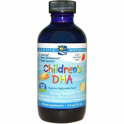 Nordic Naturals Children's DHA 530mg 119 237 or 473ml strawberry flavour