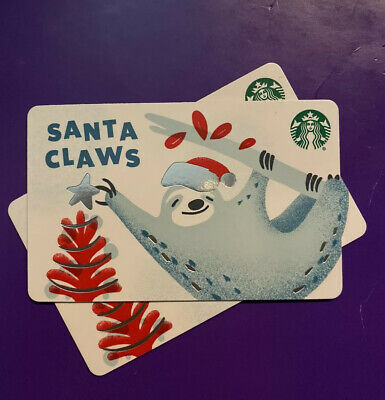 New Release 2019 Winter Holiday 'Santa Claws' Starbucks Gift Card