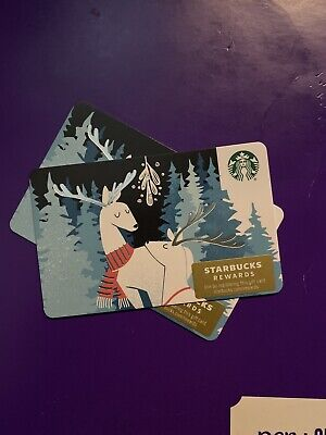 New Release 2019 Winter Holiday Winter Reindeer Starbucks Gift Card
