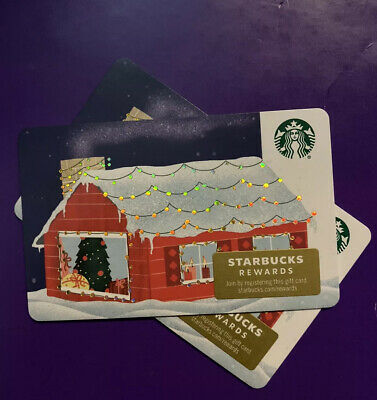 New Release 2019 Winter Holiday Winter House Starbucks Gift Card