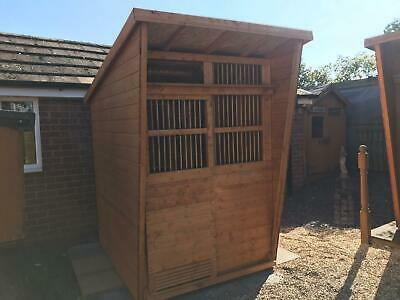 Pigeon loft - 5X5 Dowelled Front, Inc 1 Set of Widowhood Boxes & 10 Box Perches