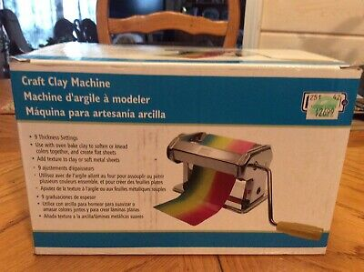 Pasta Roller Craft Clay Machine NIB