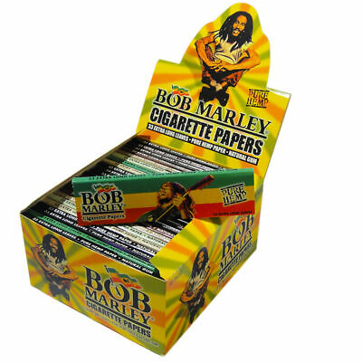 Bob Marley Rolling Papers~ Pure Hemp 33 X-Long Leaves in Each Pack~50 Packs