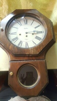 Vintage Sexton School House Clock Westminster Chime Franz Hermle mechanism