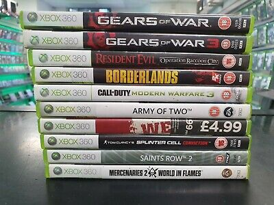 Xbox 360 Games Bundle Job Lot [Gears of War, Resident Evil, Borderlands]
