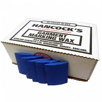 Hancock's Garment / Fabric Marking Tailors Wax Squares Blue - Pack of 50