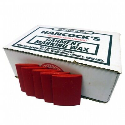 Hancock's Garment / Fabric Marking Tailors Wax Squares Red - Pack of 50