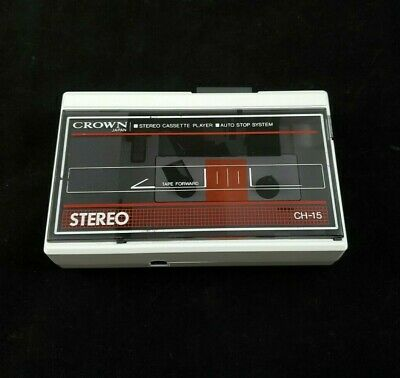 Crown Personal Cassette Player CH-15 Vintage Rare - (Read Description)