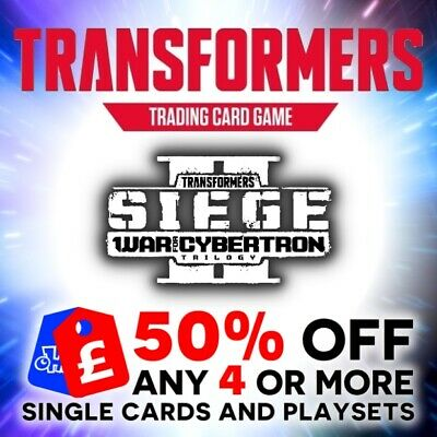 Transformers Tcg Wave 4 Battle Cards Siege Ii War For Cybertron Singles Playsets