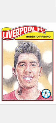 Topps Ucl Soccer Living Set Card Liverpool Fc Roberto Firmino #84