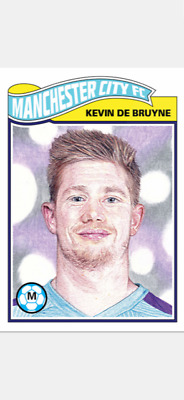 Topps Ucl Soccer Living Set Card Manchester City Fc Kevin De Bruyne #83