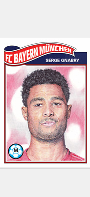 Topps Ucl Soccer Living Set Card Fc Bayern Munchen Serge Gnabry #82