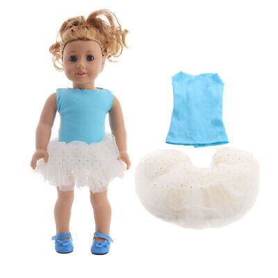 "Hot Handmade Accessories Fits 18""Inch American Girl Doll Two-Piece Lace Dress"