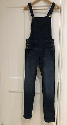 GIRLS H&M DUNGAREES BLUE DENIM AGE 13-14 Years Great Condition