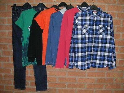 CONRAN GEORGE NO FEAR etc Boys Bundle Jeans Tops Jumpers Shirts Age 12-13