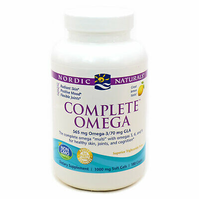 Nordic Naturals Complete Omega - 565mg Lemon 60, 120 or 180 softgels