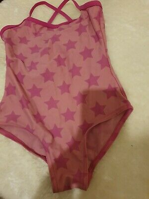 Lovely Girls tu pink starry Swimming Costume Age 6 Years