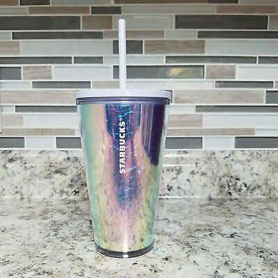 Starbuck Tumbler Unicorn Iridescent Lavender 2019 Holiday Winter Cold Cup 16oz