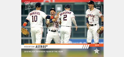 2019 Topps Now Wilson Defense Team Of The Year Card Houston Astros #Os-35