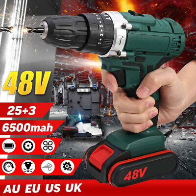 48V Torque Cordless Electric Impact Wrench Driver Screwdriver W/Charger